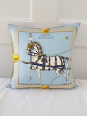 A pillow designed by Kari Hershey of Rumson.