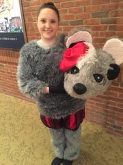 Sterling Bond in costume as a lead mouse Friday night