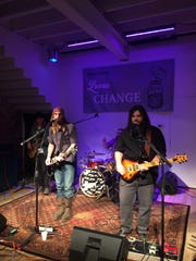 Jupiter Stone performs at the Space Jam showcase presented by Loose Change Productions on December 2, 2017 in Jackson, Tenn.