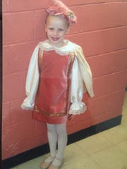 Cara O'Neill in The Nutcracker in her first performance.