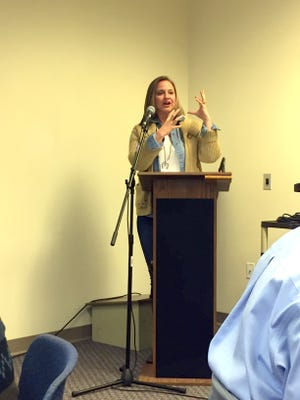 State Representative Rebecca Dow was the guest speaker at Thursday's Silver City Grant County Chamber Luncheon which was held on the campus of Western New Mexico University.