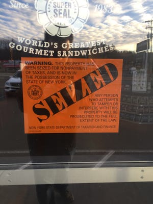 Jimmy John's on Vestal Parkway was seized on Thursday Dec. 7 for non-payment of taxes.