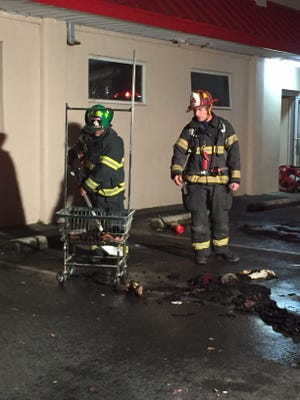 Vineland firefighters responded to a 911 call at the Super Laundry on Main Road Monday evening.