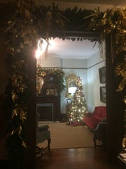 Historic Westwood is decorated for Christmas, and Knox