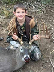 Brayden Alexander, 10, killed this 13-point buck while hunting on a Jim Wells County ranch.