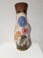 """""""Fantasy Flowers,"""" by Michael Brailove, ceramic, created Fall 2017"""