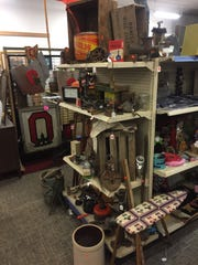 Collectible wooden crates and OSU decor items are also