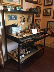 A work bench used by Arnold Palmer at his La Quinta home to tinker with golf clubs is one of the highlights of the new Arnold Palmer Room at Arnold Palmer's Restaurant in La Quinta.