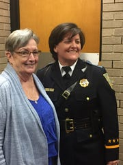 Captain Lene Bowers celebrates her historic promotion