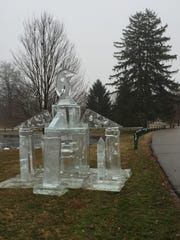 An ice sculpture has surprised residents near Crestview Hills Town Center.