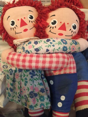 There are several Raggedy Ann and Andy dolls on display at the Big Springs Museum.