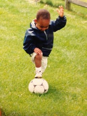 Even when he was 2, the Minnesota United's Mason Toye was working on his soccer skills.