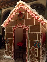 Hotel du Pont executive pastry chef Michele Mitchell and her  team assembled a life-size gingerbread house that was set-up in the Hotel's lobby for the annual Grand Gala celebration in December.