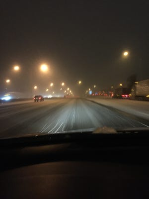 A view of northbound I-75 near Richwood Road on Feb. 2. Boone County got 1 -2 inches of snow.