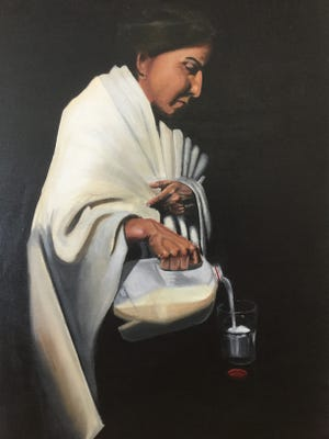 A portrait of her mother by Adriana Flores