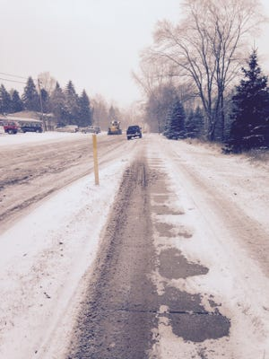 Here's how Peters Road appeared in winter a few years ago. Residents say it hasn't improved.