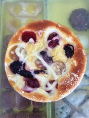 Mmm, Hempl's fruit pizza is perfect for a picnic.