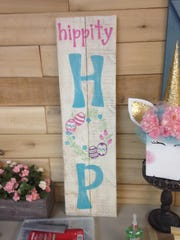 This Easter-themed wall hanging is available at Rusty
