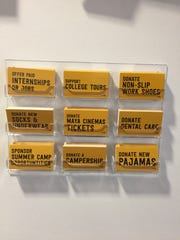 """Take Action Cards"" at the exhibit."