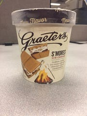 Graeter's Ice Cream's new S'mores ice cream flavor.