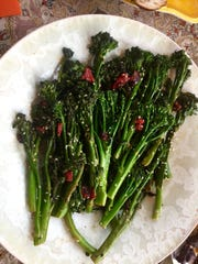 Broccolini with Sesame Seeds and Roasted Red Pepper