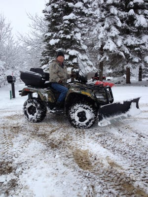 Dean Cywinski of Fowlerville, riding his Arctic Cat March 7, is out more than $700 in repairs that should have been covered on his all-terrain vehicle. He forgot to tell the repair shop he had a warranty.