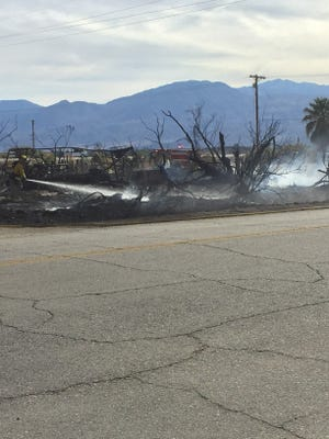 A homeless encampment in Coachella has been evacuated following a wildfire spread.