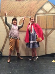 Jack (Leo Nedkov) and Little Red Riding Hood (Beatrice Weisfeld)