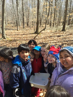 """""""River Rats"""" learn about science and nature at a recent program at the Environmental Education Center, 190 Lord Stirling Road, Basking Ridge."""