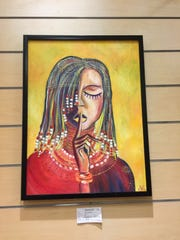 """Exotic,"" by Maine-Endwell student Stephanie Adams, was featured in the Fine Arts Society of the Southern Tier's Young at Art Show and Competition in March."