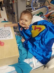Two-year-old Jace Josephson received a heart transplant