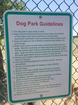 Only dogs with current rabies shots are allowed at Camp Barkeley, according to the dog park guidelines: however, the guidelines are self-enforced.