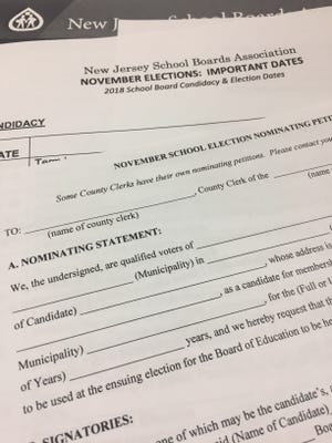 Nomination petitions for Vineland school board election are now available.