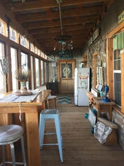 Michelle Losing's screened in porch has many quirky