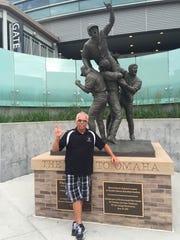 Vanderbilt fan Jeff Pack, one of the two Vandy whistlers,
