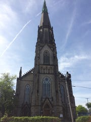 A project to restore the steeple and bell tower of the historic St. Joseph Oratory church near Eastern Market in Detroit began May 21, 2018.