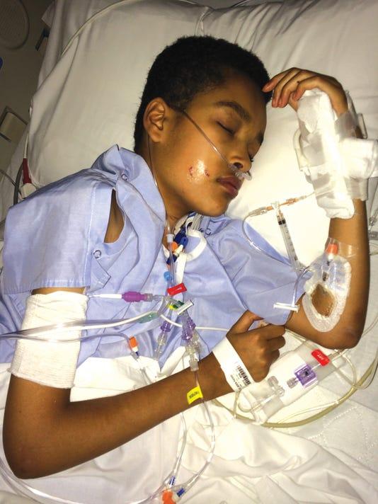 Jaden sleeping with wires