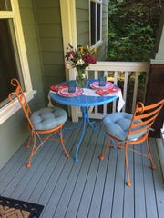 Freshening up your patio furniture with spray paint is an easy do-it-yourself project for summer.