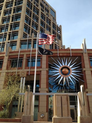 Phoenix city leaders issued a statement Friday afternoon in response to Maricopa County Attorney Bill Montgomery's bid to control police departments' release of public records,as first reported by The Arizona Republicthis week.The Phoenix City Council is asking for the public's input at 15 meetings to help determine what they should do with a $2.9 million budget surplus.
