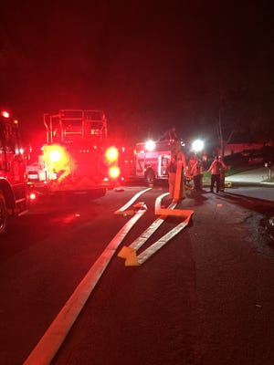A fire at a Killearn home Thursday night displaced 11 people including seven children and caused an estimated $100,000 in damage.
