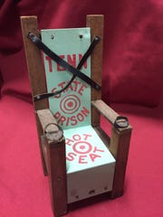 A prisoner-made model of the Tennessee electric chair,