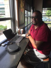 Eric Taylor, 40, of Royal Oak, at a Starbucks off Woodward