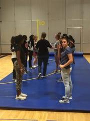Workshops included self-defense for girls.