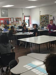 Eighth-graders chose five different workshops they