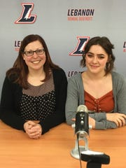 Student Leah Connatser, right, with Mentor Megan Heefner.