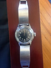 Patricia Hunt's father's watch from the Marines, running