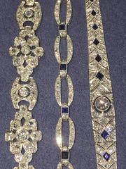 Art deco platinum and diamond bracelets are among hundreds