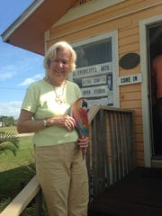 Varick Niles at her Everglades City gallery before