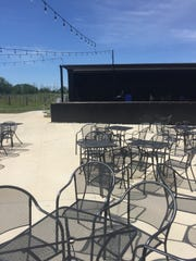 The concert stage at Daniel's Family Vineyard in McCordsville.