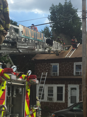 More than a half dozen residents were reported displaced